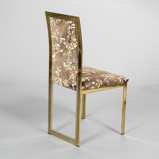 Bon 8 Brass And Chrome Dining Chairs By Romeo Rega